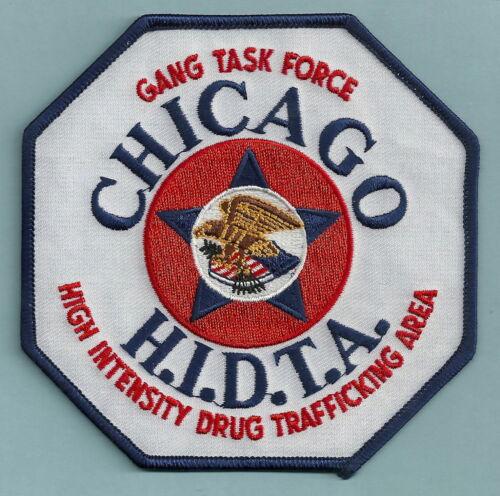 DEA FBI CHICAGO HIDTA NARCOTICS GANG TASK FORCE POLICE PATCH