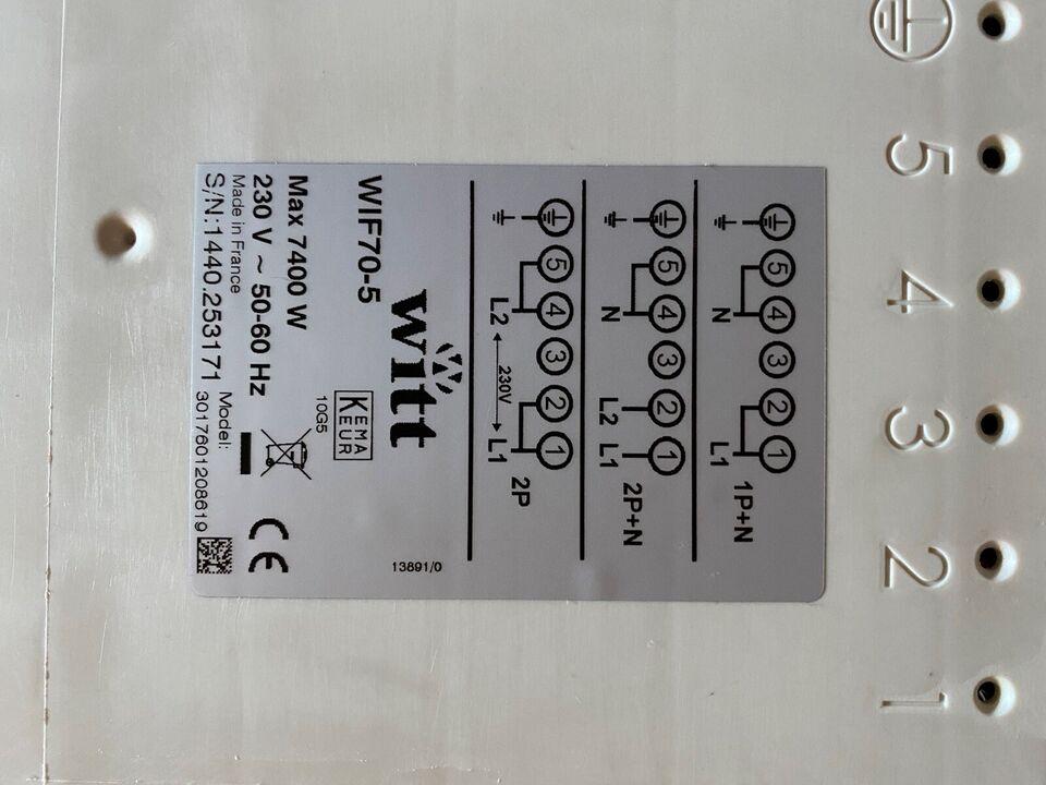 Kogeplade, andet mærke WIF70-5, b: 70 d: 52 h: 5
