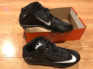 Nike Skin Alpha Pro 2 black white cleats 3/4 NFL team Odell Beckham Raiders 10