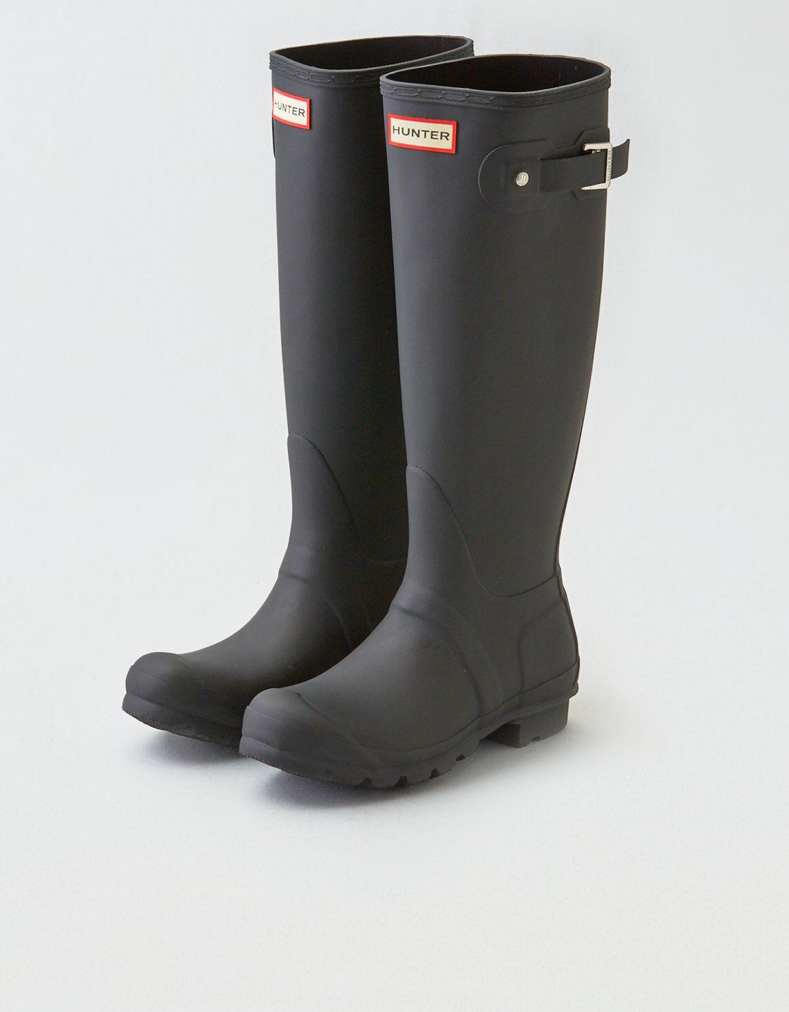 Hunter Original Tall Rain Boots Black Matte Size 11