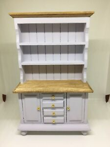 Stupendous Details About 1 12Th Dolls House Miniature Hand Painted Shabby Chic Style Welsh Dresser Download Free Architecture Designs Salvmadebymaigaardcom
