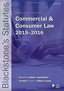 Blackstones Statutes on Commercial & Consumer Law 2015-   2016 (Blackstones Stat