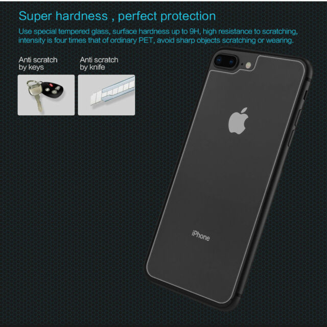 new product 0572f 8226d for iPhone 8 Plus Nillkin 9h Anti-explosion Back Tempered Glass Screen  Protector