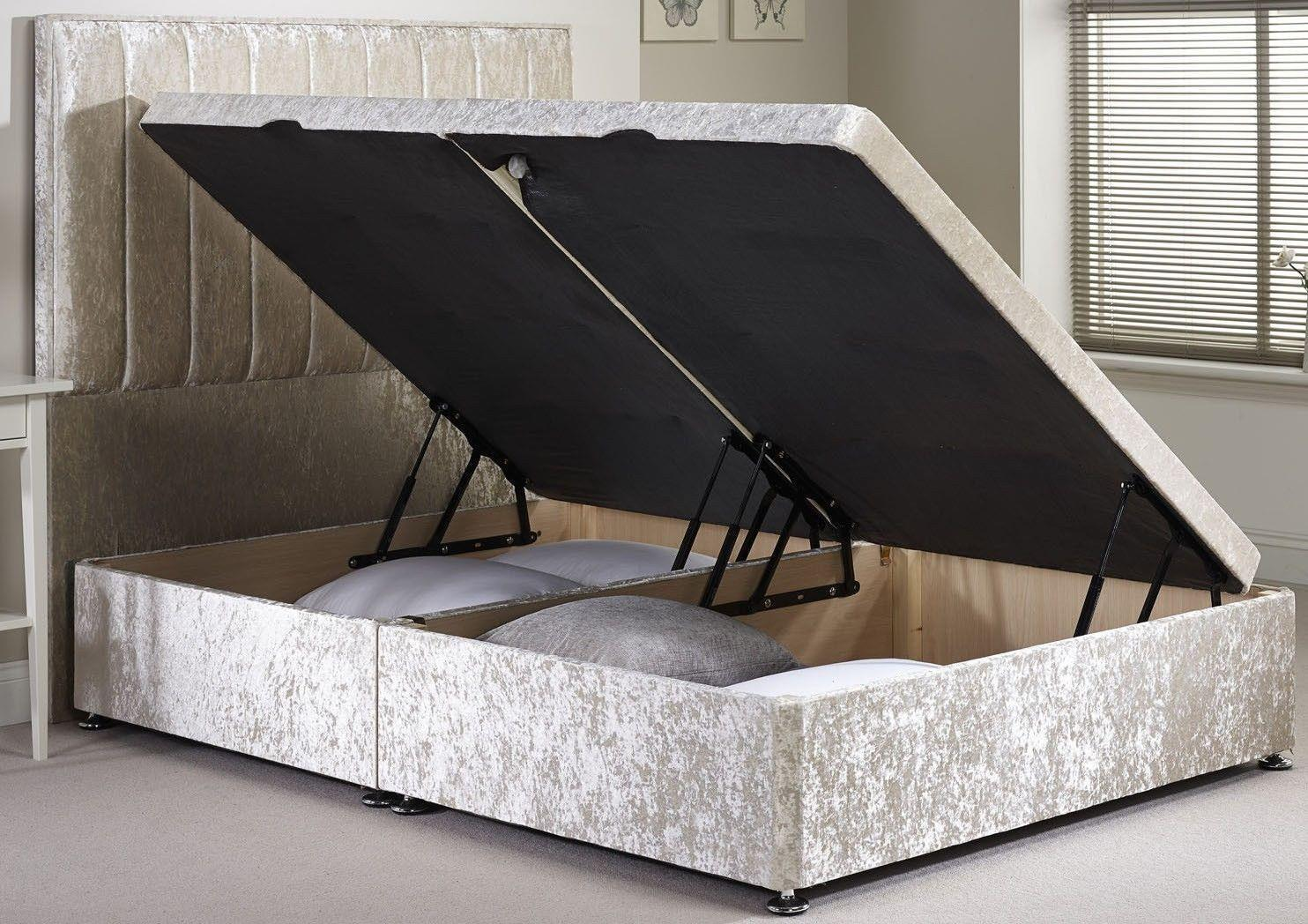 dbbeb3ce6d0a Divan Ottoman Side Lift Storage Bed Single 4'6 Double 5ft King Size AMAZING