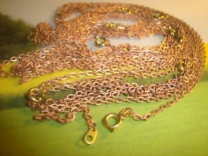 10-Ten-Vintage-Copper-Lightweight-18-034-Jewelry-Chain-Necklace-w-Brass-clasp