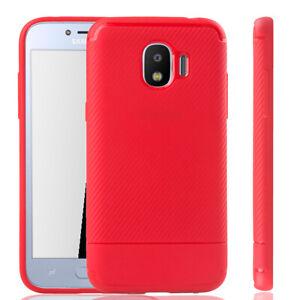 Samsung-Galaxy-J2-Pro-Etui-Coque-Telephone-Portable-Protection-Pochette-de-Rouge