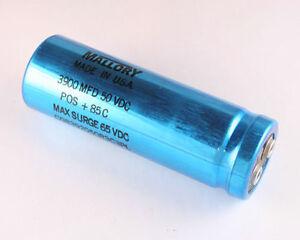 10x 3900uF 50V Radial Snap In Mount Electrolytic Capacitors mfd DC 50VDC