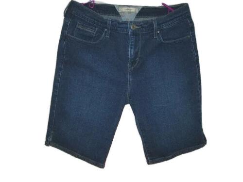 LEVI STRAUSS Size 10 JEAN Shorts HEM VENTS Denim B