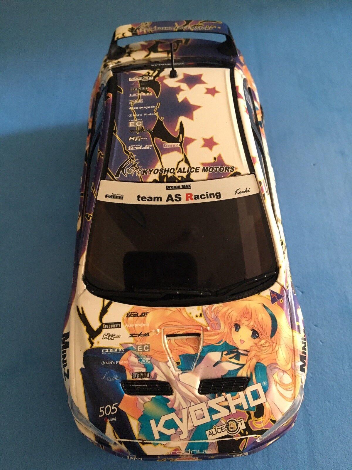 Kyosho Mini-Z Mitsubishi Lancer Evo X ASC Body Kyosho Alice Motors 1 of 2,000pcs