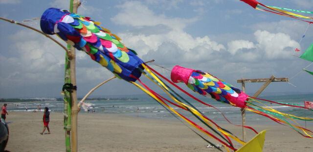 Bali Flag Wind Sock Various Colours