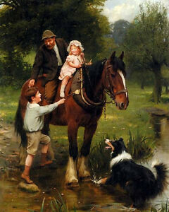 Handpainted-Oil-painting-portraits-father-with-children-and-dog-horse-stream-36-034
