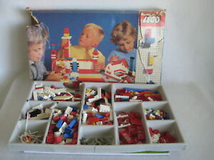 VINTAGE-LEGO-lot-060-de-1965-avec-rare-pieces