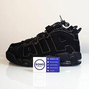 official photos ebdf0 c989f Image is loading NIKE-AIR-MORE-UPTEMPO-REFLECTIVE-3M-BLACK-INCOGNITO-