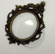 Vintage Miniature Brass Frame with original glass