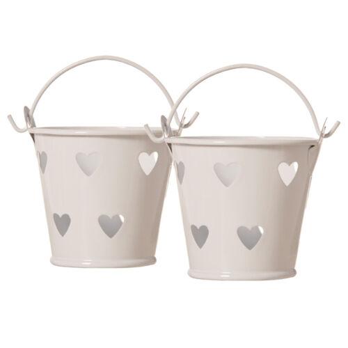 2pcs Mini Iron Bucket Tin Candy Box Buckets Wedding Party Souvenirs Pails