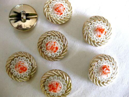 5 große Rosen-Knöpfe,viele Farben,mit Glitzer-Steinchen,30mm Durchmesser,K40.1