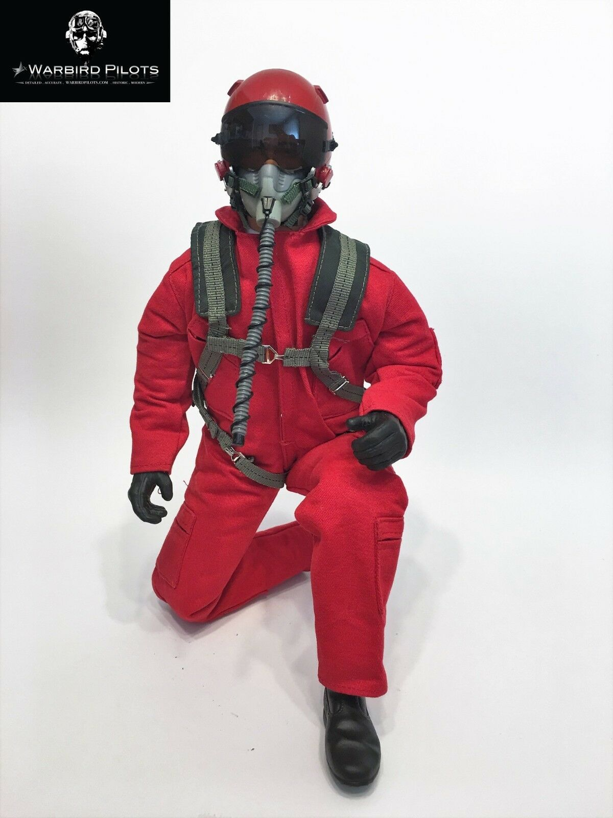1 6  1 5 Scale 12  Tall Modern Jet Fighter Pilot Figure (Red)