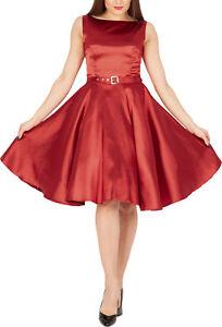 BlackButterfly-Audrey-Vintage-Satin-Clarity-Vintage-50-039-s-Rockabilly-Swing-Dress
