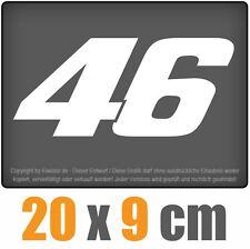 46 sticker 20 x 9 cm JDM Decal Sticker Aufkleber Racing Weiß, Scheibenaufkleber