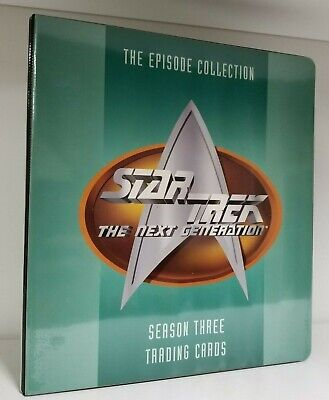Collectibles Card Albums & Pages Star Trek The Next Generation Season 3 Trading Card Binder By Fleer/skybox