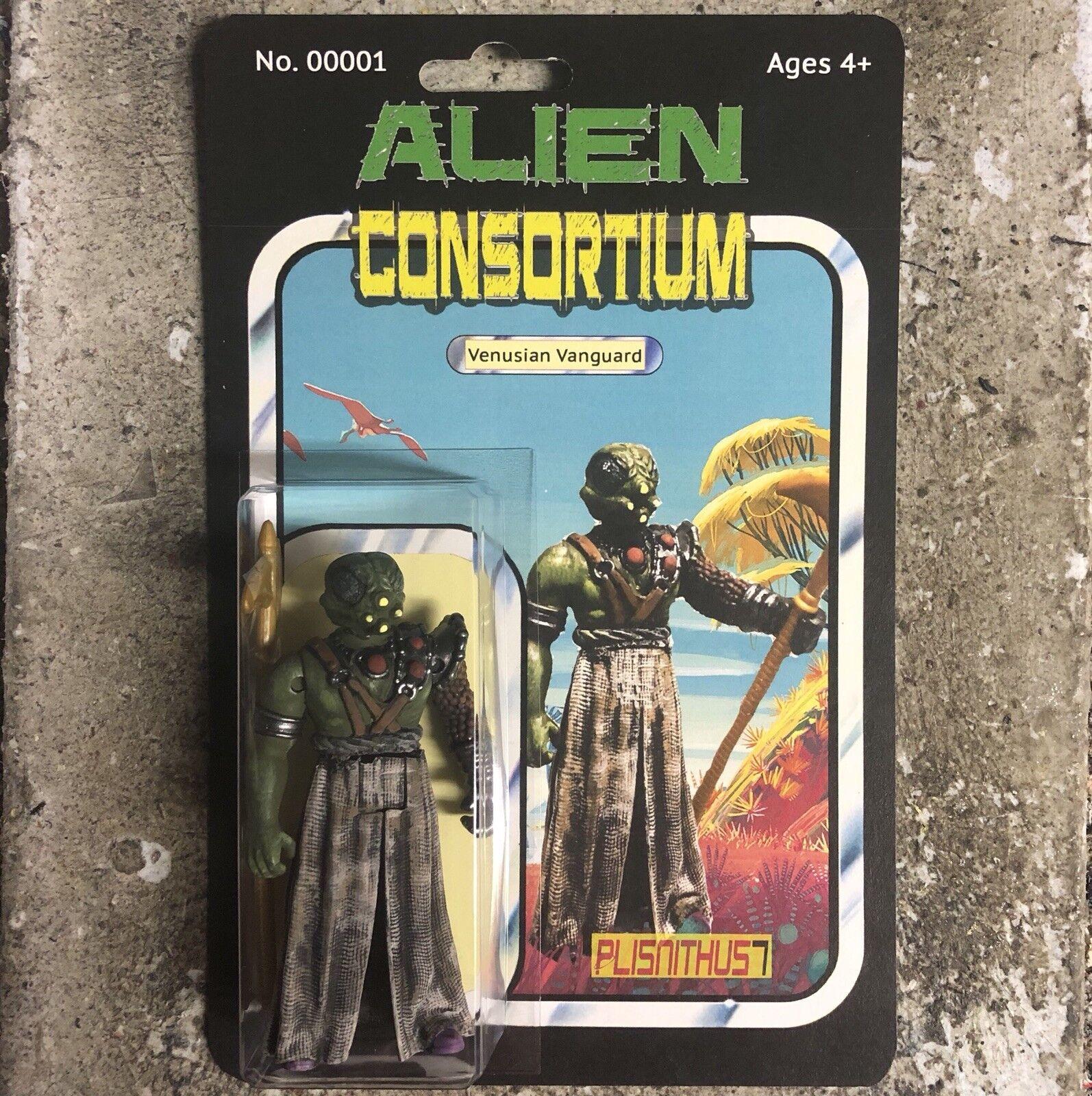"""Alien Consortium Venusian Vanguard 3.75"""" 3.75"""" Vanguard Action Figure Star Force Alien Wars 0883c9"""