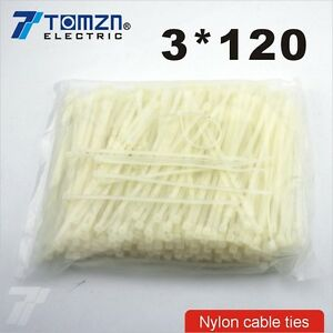 1000pcs 3mm*120mm Nylon cable ties