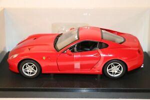 FERRARI 599 GTB FIORANO ROSSA HOTWHEELS 1//18
