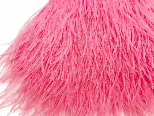 Candy Pink Ostrich Fringe Trim Feather Sample Wedding Costume 6 Inch Strip