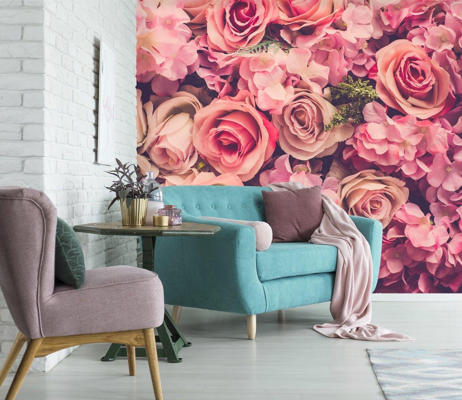 3D rot Flower 829 Wallpaper Mural Paper Wall Print Indoor Murals CA Summer