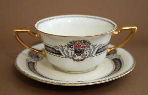 Rosenthal Bavaria Ivory ORELAY Bouillon Cup & Saucer