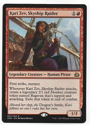 Red Aether Revolt Mtg Magic Rare 4x x4 Skyship Raider 4 Kari Zev