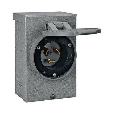 Reliance Controls PB50 50 Amp Generator Power Cord Inlet Box 12,500 Watt Max