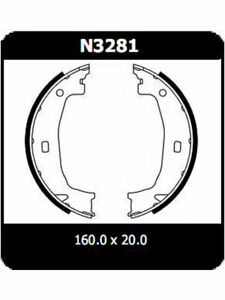 Protex-Hand-Brake-Shoes-N3281