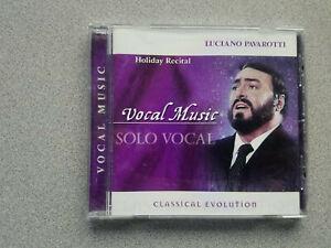 LUCIANO PAVAROTTI HOLIDAY RECITAL VOCAL MUSIC SOLO VOCAL CLASSICAL EVOLUTION CD