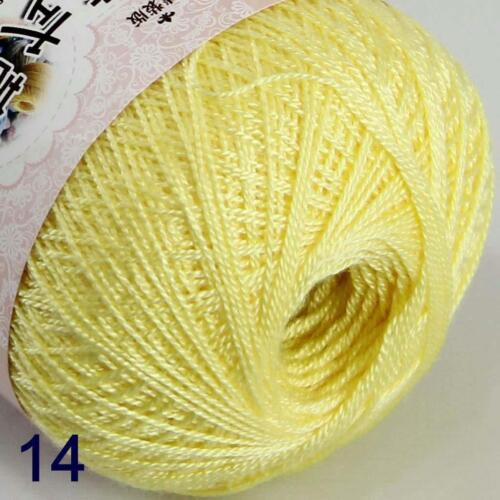 6ballsx50g Hand DIY Knitwear Cotton Lace Crochet Shawl Scarf Knitting Yarn 14