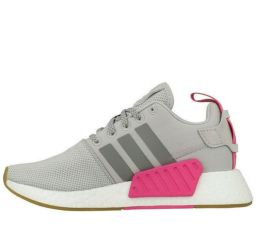 Adidas Originals NMD_R2 Women's  ® (Size UK  6 ) Grey   Pink Latest NEW