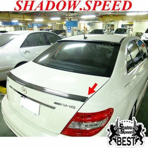 Carbon AMG Type Trunk Spoiler Wing For MERCEDES BENZ 08~14 C class W204 Sedan