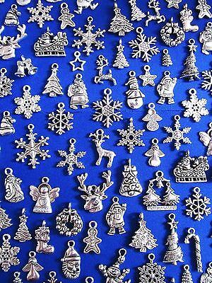 CHRISTMAS Tibetan Silver Pendants and Charm Beads ~ Jewellery Making Crafts