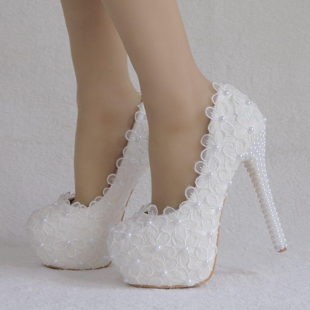 New Women Round Toe Platform Stilettos High Slip On shoes Wedding Party Birde_