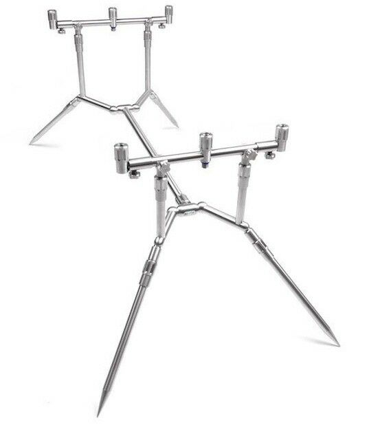 Top Tackle 3 rod pod Richtable roestvrij staal
