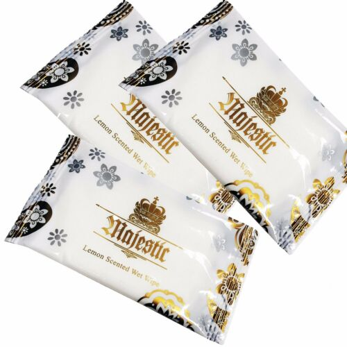 400 X Large Wet Main Lingettes Serviettes citron parfumée chaud froid emballés individuellement