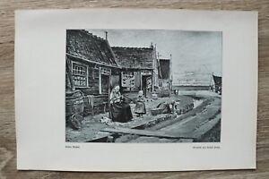Kunst-Druck-1-Blatt-1905-06-Stiller-Winkel-nach-Gemaelde-von-Rudolf-Possin-Haeuser