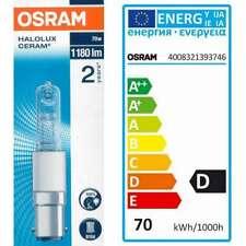 Osram Halolux Ceram Halogen Lamp 230V Bulb Tube base B15d and E27 available