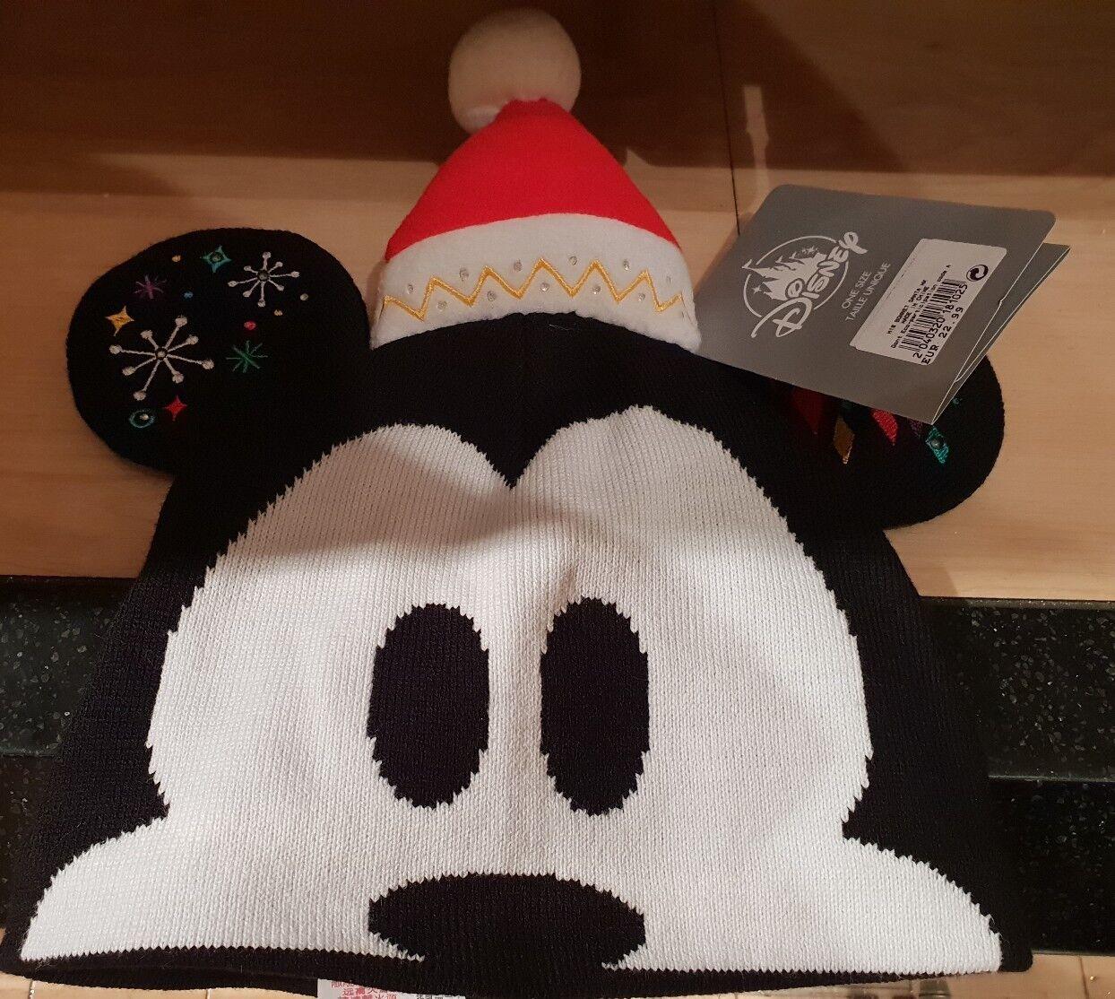 H18 Cap Santa/Father Christmas Mickey Light Disneyland Paris