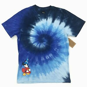 6b21cd9be7e2e2 New VANS x Disney Mickey Mouse Fantasia Tie Dye Graphic T-Shirt Blue ...