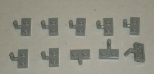 6066097 Brick 15573 10x LEGO NEW 1x2 Light Bluish Grey Plate with 1 Stud