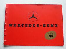 Prospekt Mercedes Benz - Typ 500, 8.1937, 20 Seiten - Original