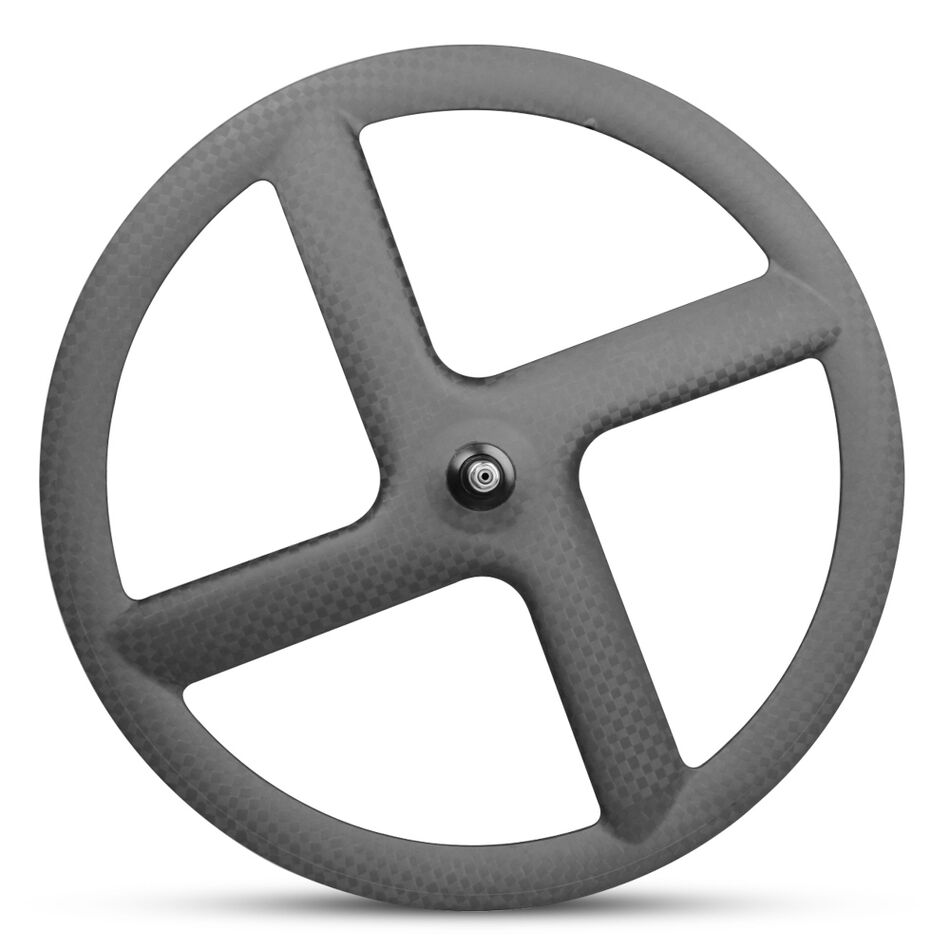 700C 23mm  Carbon 4-spoke road  bicycle front wheel carbon bike wheel 12K matte  discounts and more