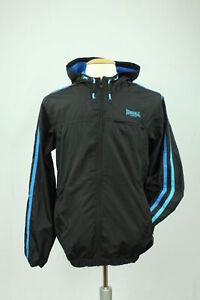 Lonsdale-London-Trainingsjacke-Windbreaker-Herren-Gr-S-Schwarz-blau-Casuals