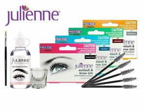 Julienne Professional Tinting Eyelash & Eyebrow Dye Tint Lash Kit - All Colours